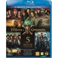 PIRATES OF CARRIBEAN 1-5 BOX (5 disc)  - Blu-ray